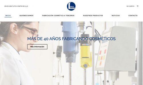 Página web e-commerce lensa.es, de Laboratorios Lensa